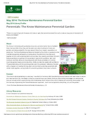 May 2014: The Know Maintenance Perennial Garden