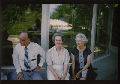 Research Building dedication - (L to R): Marion Hall, Virginia Hall and her sister