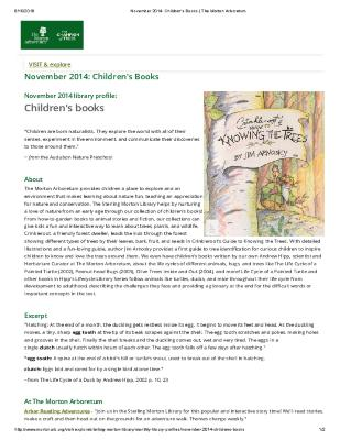 November 2014: Children's books