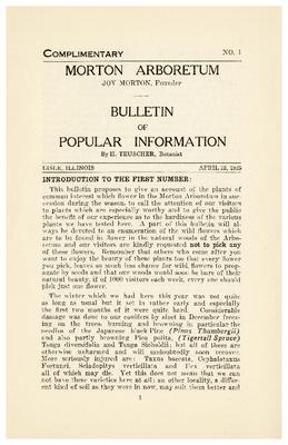 Bulletin of Popular Information V. 01 No. 01