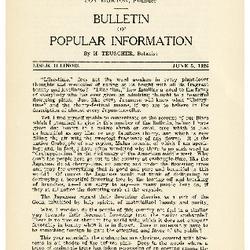Bulletin of Popular Information V. 04 No. 05