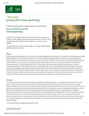 January 2015: Indoor gardening