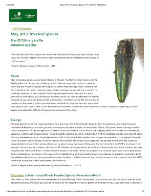 May 2015: Invasive Species