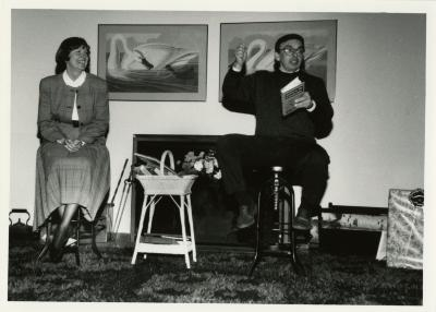 John Swisher Retirement Party in Sterling Morton Library - John Sosnowski performing with Nancy Stieber