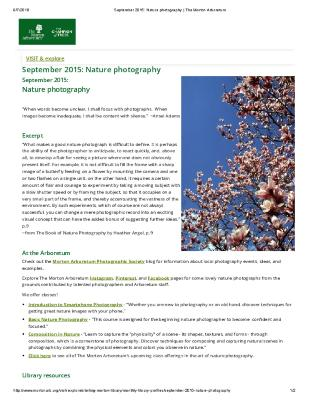 September 2015: Nature Photography