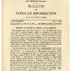 Bulletin of Popular Information V. 05 No. 13 Index