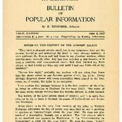 Bulletin of Popular Information V. 04 No. 14 Index