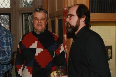 George Ware Retirement Party in Founders Room - John Swisher (left) and Tony Byrne
