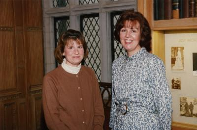 George Ware Retirement Party in Founders Room - Linda Kovach (left) and Susan Klatt
