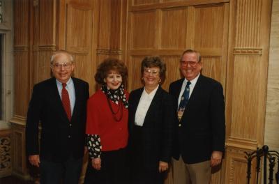 George Ware Retirement Party in Founders Room - (L to R): George Ware, June Ware, Virginia Howe, Virgil Howe
