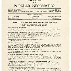 Bulletin of Popular Information V. 12 Index