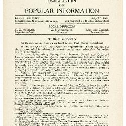 Bulletin of Popular Information V. 11 No. 11