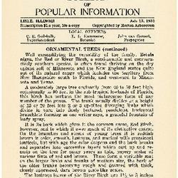 Bulletin of Popular Information V. 08 No. 13 Index