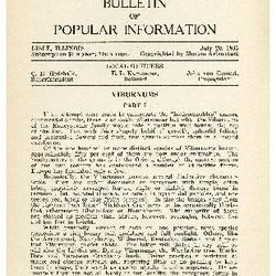 Bulletin of Popular Information V. 12 No. 10