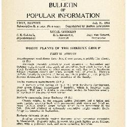 Bulletin of Popular Information V. 11 Index