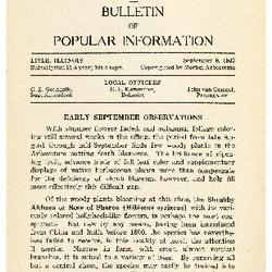 Bulletin of Popular Information V. 13 Index