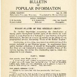 Bulletin of Popular Information V. 10 No. 13 Index