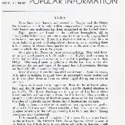 Bulletin of Popular Information V. 14 No. 04 Centennial Supplement