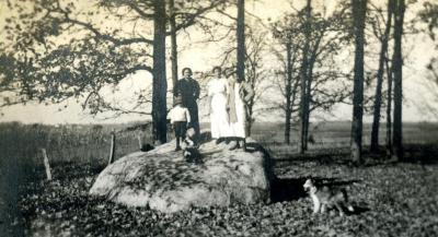 Four people standing on Big Rock