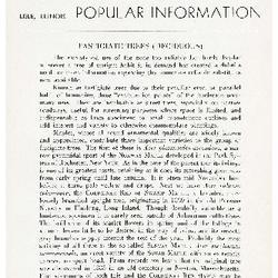 Bulletin of Popular Information V. 18 No. 3