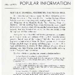 Bulletin of Popular Information V. 18 Index