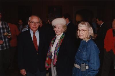 George Ware Retirement Party in Founders Room - (L to R): George Ware, Marie Swink, Alice Burkman
