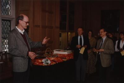 George Ware Retirement Party in Founders Room - Gary Watson addressing guests