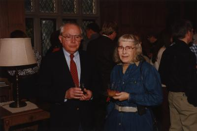George Ware Retirement Party in Founders Room - George Ware and Alice Burkman