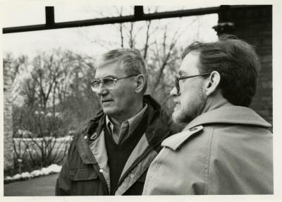 Victory Gardens TV - tv host, Bob Thomson (left), with Joe Larkin