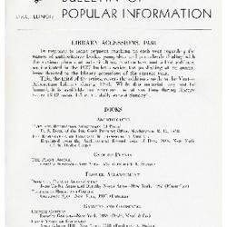 Bulletin of Popular Information V. 16 No. 06