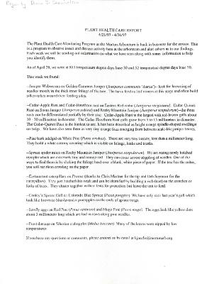 Plant Health Care Report: April 21-April 26, 1997