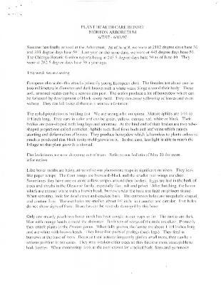 Plant Health Care Report: June 7-June 13, 1997