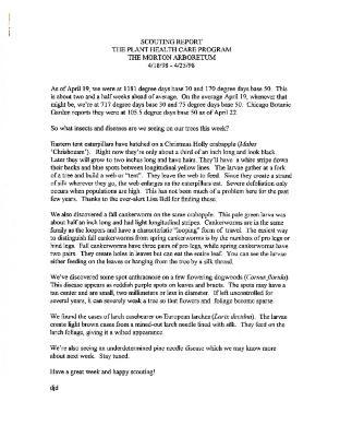 Scouting Report: April 18-April 25, 1998
