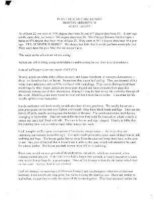 Plant Health Care Report: June 21-June 27, 1997