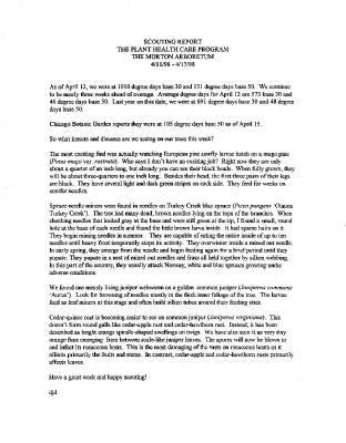 Scouting Report: April 11-April 17, 1998