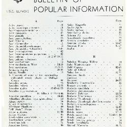 Bulletin of Popular Information V. 16 No. 05