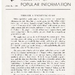 Bulletin of Popular Information V. 22 No. 03