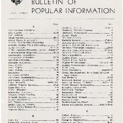 Bulletin of Popular Information V. 23 No. 10