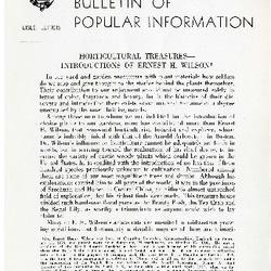 Bulletin of Popular Information V. 24 Index