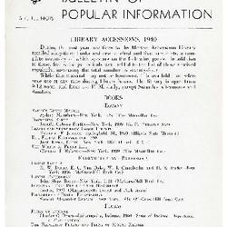 Bulletin of Popular Information V. 16 No. 01