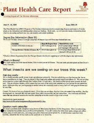 Plant Health Care Report: Issue 2001.10