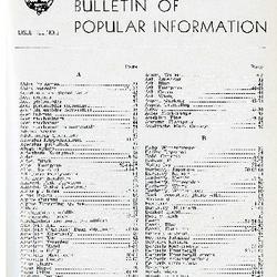 Bulletin of Popular Information V. 22 No. 12