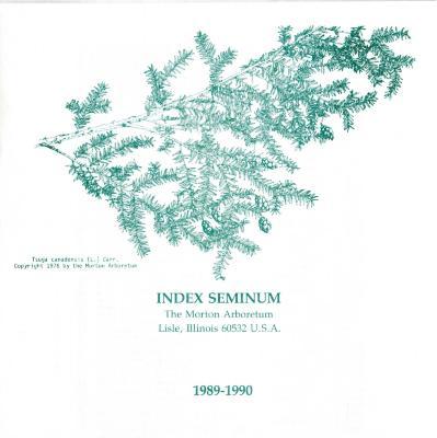 Index Seminum 1989- 1990