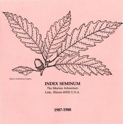 Index Seminum 1987-1988