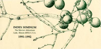 Index Seminum 1991-1992