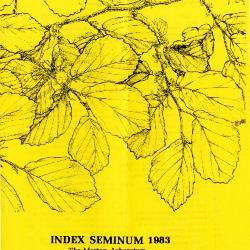 Index Seminum 1983