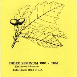 Index Seminum 1985-1986