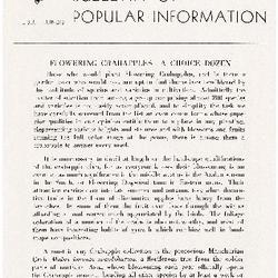Bulletin of Popular Information V. 25 No. 01