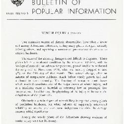 Bulletin of Popular Information V. 30 No. 01