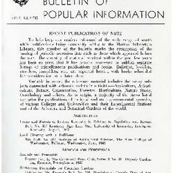 Bulletin of Popular Information V. 23 No. 12